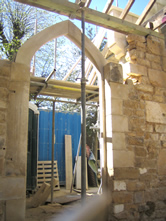 Doorway in progress at Christchurch