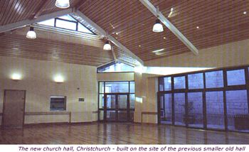 New Church Hall built on the site of the previous smaller old hall